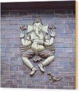A Sculpture Of The Hindu God Ganesha Wood Print
