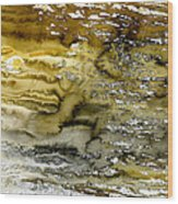 A Sea Of Raw Sienna Wood Print