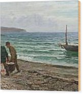 A Sea View Wood Print by Colin Hunter