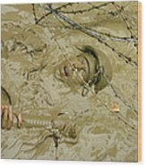 A Seabee Emerges From Muddy Water Wood Print by Stocktrek Images