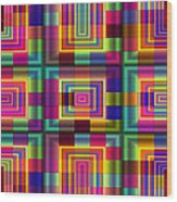A Sense Of Squares Wood Print