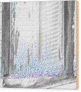 A Simple Window Sketch Wood Print