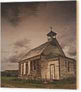 A Simple Wooden Church Wood Print