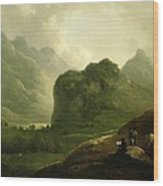 A Sketching Party In The Pass At Borrowdale Wood Print