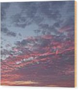A Sky On Fire Wood Print