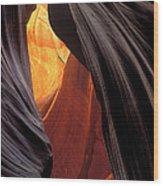 A Slot Canyon View Wood Print