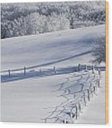 A Snowy Field Wood Print