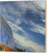 A Solar Panel In The Desert Of South Wood Print