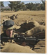 A Soldier Mans His Position At Fort Wood Print