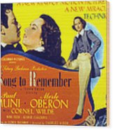 A Song To Remember, Cornel Wilde, Merle Wood Print