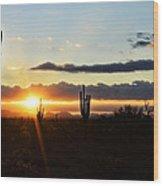 A Southwest Morning  Wood Print