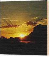 A Southwest Sunrise  Wood Print