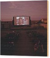 A Sparse Audience Watches A Film Wood Print by Sam Abell