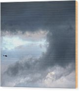 A Speck In The Sky Wood Print