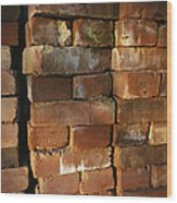 A Stack Of Bricks Wood Print