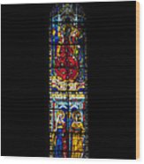 A Stained Glass Window Lit By The Day Wood Print