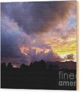 A Storm Rolls In From The West 29 Wood Print