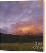 A Storm Rolls In From The West 40 Wood Print