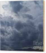 A Storm Rolls In From The West 5 Wood Print