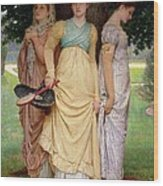 A Summer Shower Wood Print by Charles Edward Perugini