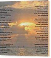 A Sunset A Poem - Victor Hugo Wood Print