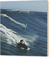A Surfer And Jet-skier Off The North Wood Print