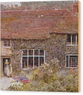 A Surrey Cottage Wood Print