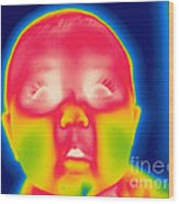 A Thermogram Of A 5 Month Old Baby Wood Print