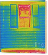 A Thermogram Of A Window Wood Print