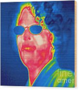 A Thermogram Of A Woman With Glasses Wood Print