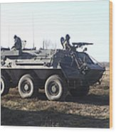A Tpz Fuchs Armored Personnel Carrier Wood Print