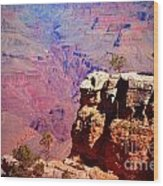 A Tree And The Canyon Wood Print
