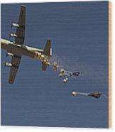 A U. S. Air Force C-130 Hercules Wood Print