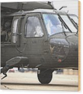 A Uh-60 Black Hawk Taxis Wood Print