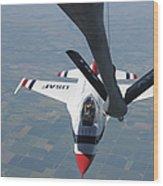 A U.s. Air Force Thunderbird Pilot Wood Print