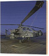 A U.s. Army Ah-64d Apache Helicopter Wood Print