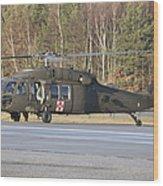 A U.s. Army Uh-60l Blackhawk Wood Print