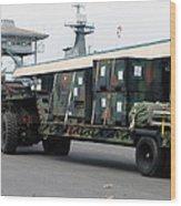 A U.s. Marine Corps Mk48 Logistics Wood Print