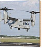 A U.s. Marine Corps Mv-22 Osprey Lifts Wood Print