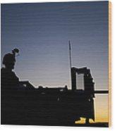 A U.s. Marine Keeps Watch Wood Print