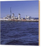 A U.s. Navy Deactivated Ship Sits Ready Wood Print