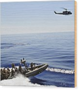 A U.s. Navy Uh-1n Huey Helicopter Wood Print