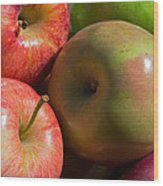 A Variety Of Apples Wood Print