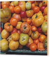 A Variety Of Fresh Tomatoes - 5d17812 Wood Print