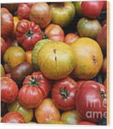 A Variety Of Fresh Tomatoes - 5d17840 Wood Print