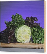 A Variety Of Lettuce Wood Print by Photo Researchers, Inc.
