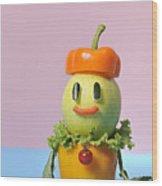 A Vegetable Doll Wood Print