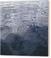 A Very Calm Ocean Reflects Grey-blue Wood Print
