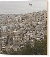 A View Of Amman, Jordan Wood Print by Taylor S. Kennedy