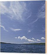 A View Of Lake Superior And Sky At Isle Wood Print